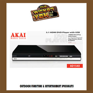 Akai HDMI Multi Region DVD Player with USB Input-Plays DIVX AD154X-NEW!