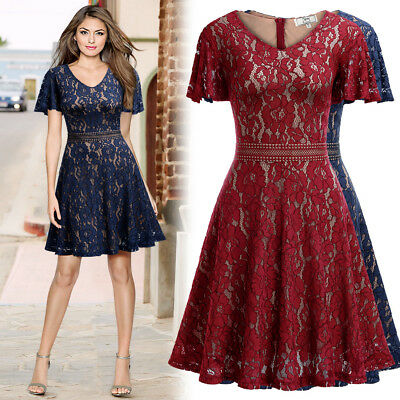 Women's Slimming Lace Dress with Bell Sleeve for Homecoming, Formal, and Etc - Belle Dress For Women