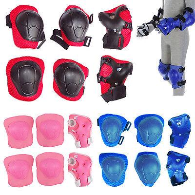 Set of 6 Children Pad Kids Wrist Elbow Knee Protectors Gear Set (Small Defect)