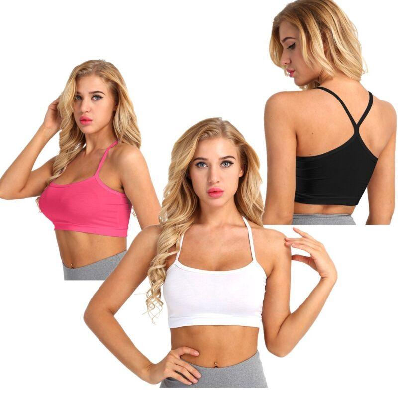 8671446221 Women Sleeveless Tank Top Vest Blouse Strappy Yoga Dance Cami Bralet Bra  SummerUSD 0.99
