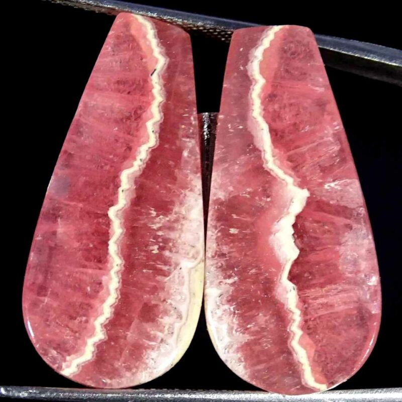 23.80Cts Natural Pink Rhodochrosite Fancy Pair Cabochon Loose Gemstone