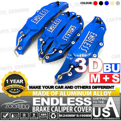 Metal 3D ENDLESS Universal Style Brake Caliper Cover front&rear 4pcs Blue LW02