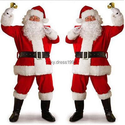 Verkleidung Kostüme (Weihnachtsmannkostüm Weihnachtsmann Rot Nikolaus Kostüm Anzug Bart Verkleidung)