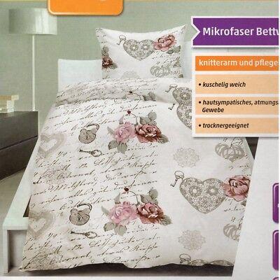 Rose Bettdecke (Dekor Mikrofaser Bettwäsche Rosen 135x200 cm Bettdecke Kopfkissen )