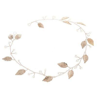 Headband Goddess Leaf Hair Crown Headwear Gold Band Bridal Wedding Accessories