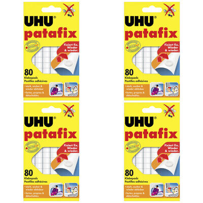4 x Uhu Patafix Weiss 80 Stück