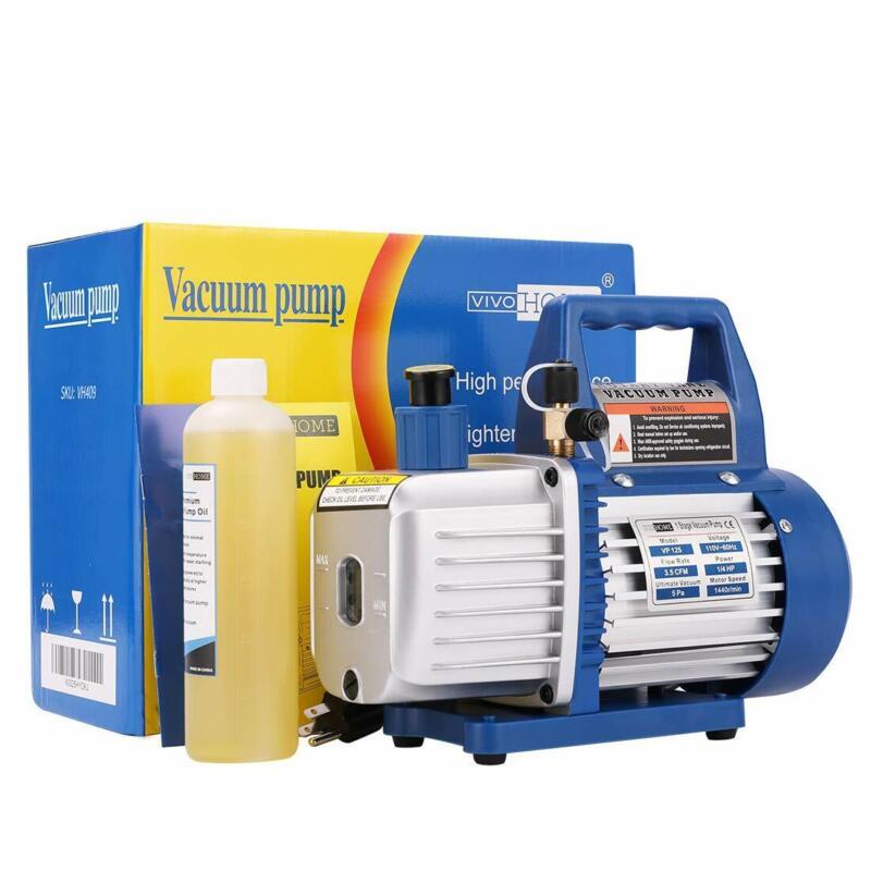 VIVOHOME 1/4HP 3.5CFM Single Stage Rotary Vane Air Vacuum Pump HVAC Refrigerant