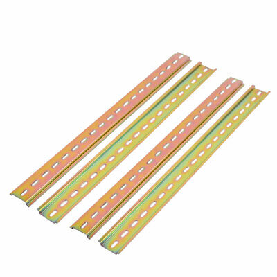 Chasis Case Metal DIN Mounting Straight Edge Guide Rail 400mm Length 4pcs