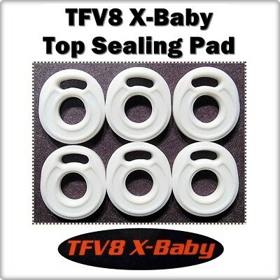 6 - TFV8 X-Baby Top Sealing Base Pad ORings ( ORing O-Ring smok Gasket Seals )