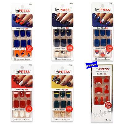 Kiss imPRESS Press-on Manicure Nails Art Stickers No Glue Needed False Nails -