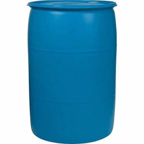30 Gallon Plastic Drum - Reconditioned - Free Shipping - Blue