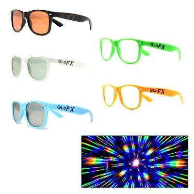 GloFX Ultimate Diffraction Rave Rainbow Glasses - Clear Lens ()
