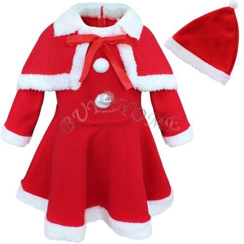 Baby Girls Newborn Winter Christmas Santa Claus Costume
