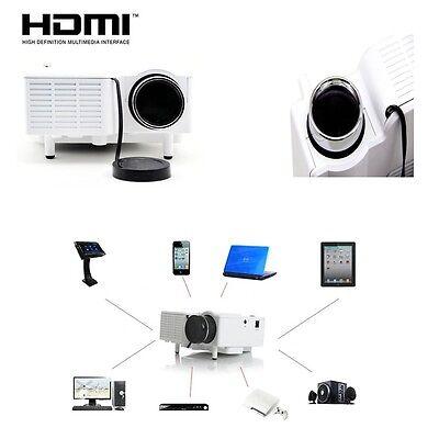 HQ New Mini HD LED Projector Cinema Home Theater PC Laptop VGA USB SD AV HDMI