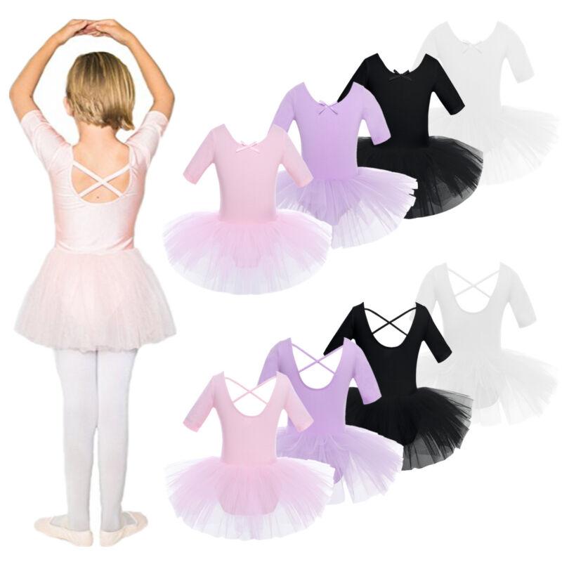 00cf81503 Girl Kids Ballet Leotard Unitard Tutu Dance Dress Skating Dancewear ...