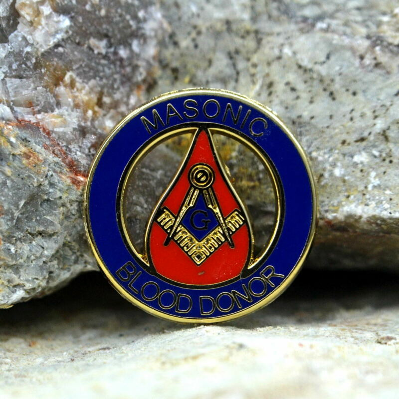 Masonic Lapel Pins Badge Mason Freemason B67 BLOOD DONOR