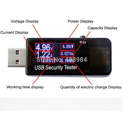 LCD USB Detector Digital Ammeter Power Capacity Tester Voltage Current Meter
