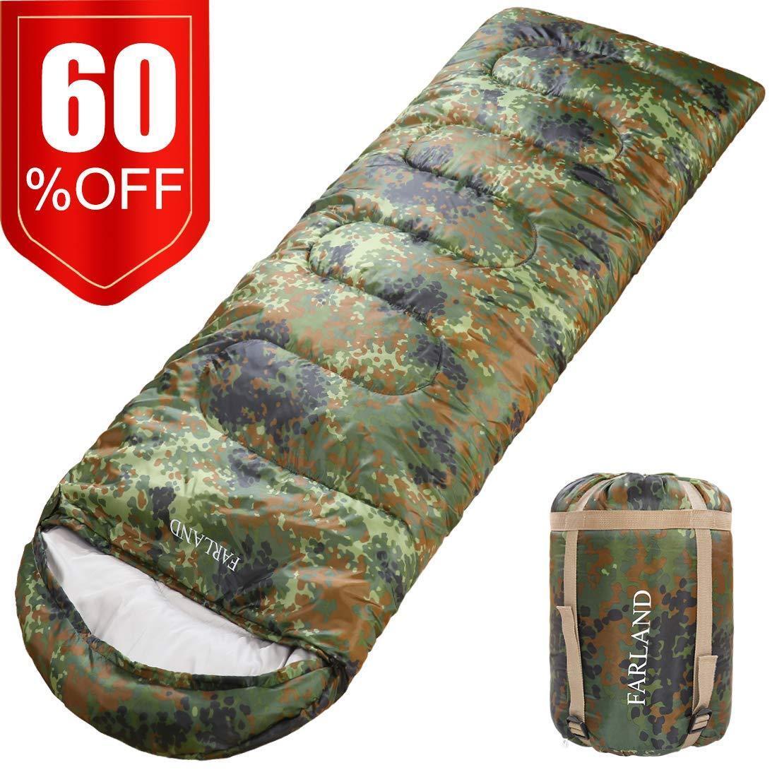 Camping Hunting Sleeping Bag Envelope Outdoor Lightweight Wa