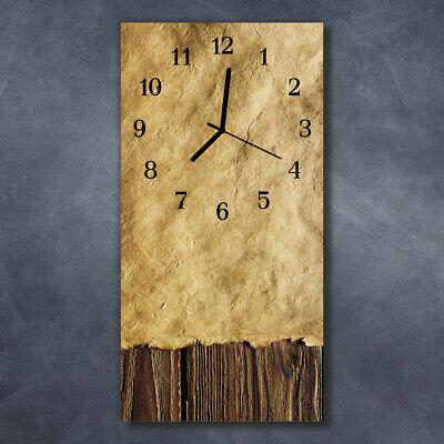 Tulup Reloj de pared de cristal cocina silencioso imagen 30x60 cm Papel...