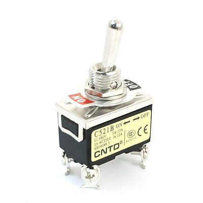 Ac250v 15a Dpst 2 Positions On-off Locking Toggle Switch C521b