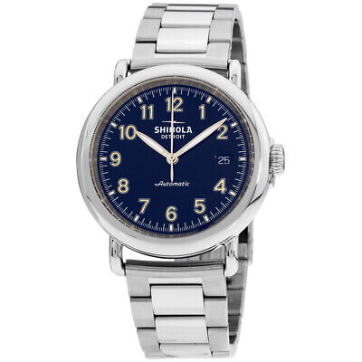 Shinola The Runwell Automatic Movement Blue Dial Men's Watch S0120141489