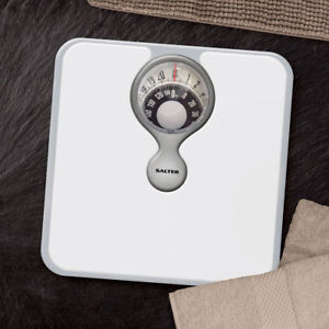 SALTER 484 MAGNIFIED COMPACT DIAL MECHANICAL BATHROOM WEIGHING SCALES