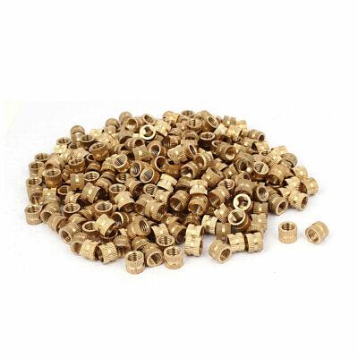 M8x8mmx10mm Brass Female Threaded Knurl Insert Embedded Nut Fastener 500pcs