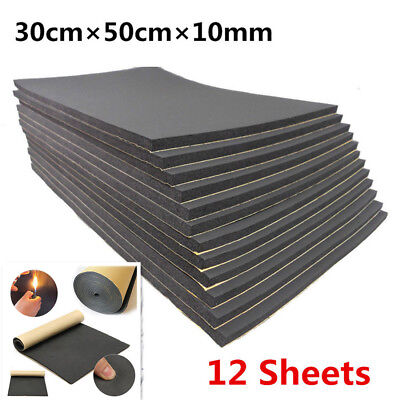 - 12x 10mm Car Sound Proofing Deadening Noise Reduction & thermal insulation Foam