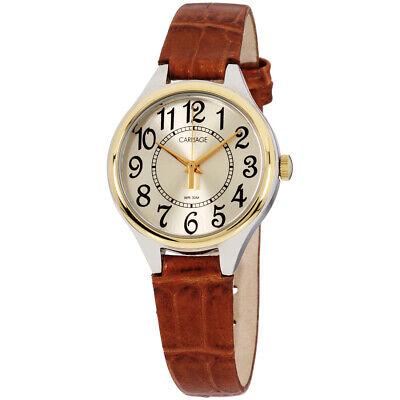 Timex Carriage Quartz Movement Beige Dial Ladies Watch C3C401