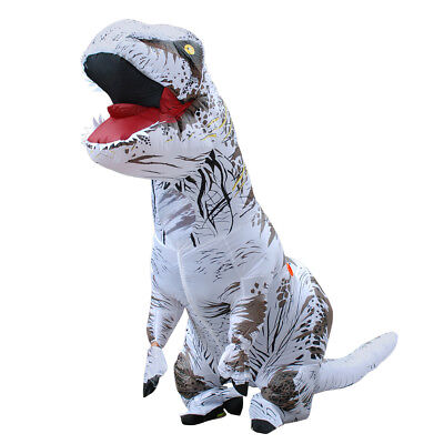 Inflatable T-Rex Dinosaur Costume Adult Fancy Dress Blow Up Suit-White for sale  China