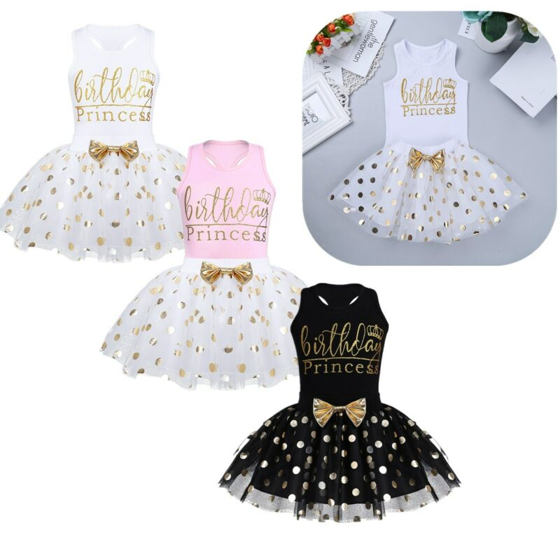 Infant Baby Girls Romper Polka Dots Skirts Party Outfits Kids Birthday Costume
