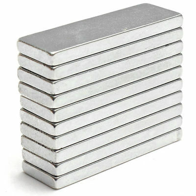 1050100pcs Super Strong Block Fridge Magnets Rare Earth Neodymium 25x8x2mm N52