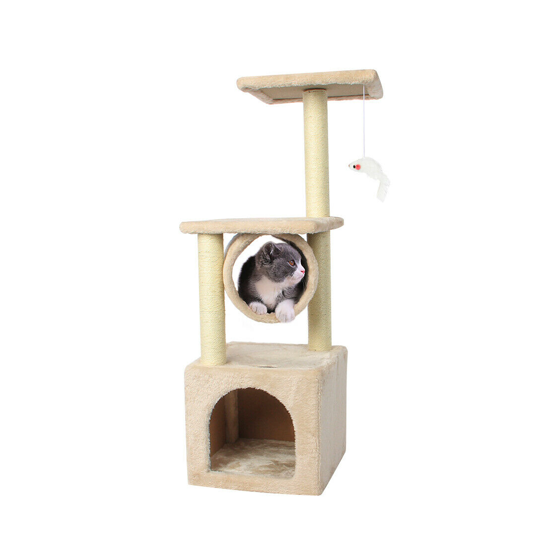 36'' Cat Tree Scratching Tower Post Condo Pet House Scratche
