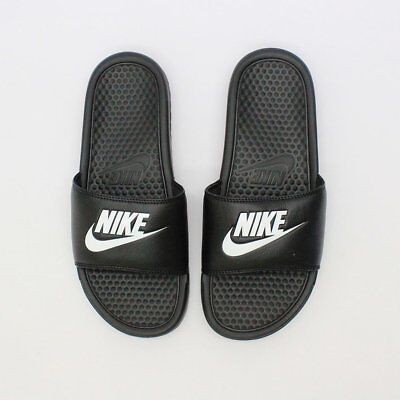 Nike Benassi JDI Men's Slide Black White 343880-090 Free Shipping