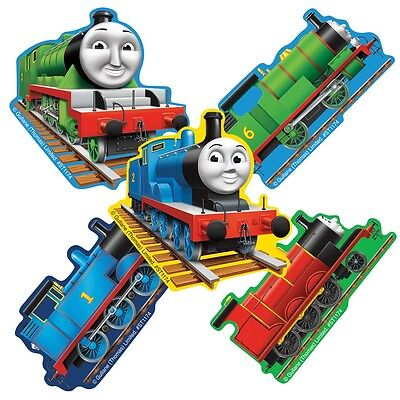 Thomas the Tank Engine Stickers x 5 - Shaped Stickers - Birthday Party Supplies ()
