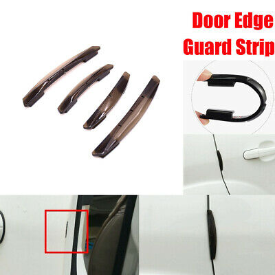 4x Car Door Edge Guard Scratch Protector Strip Anti-rub Rubber Auto Accessories