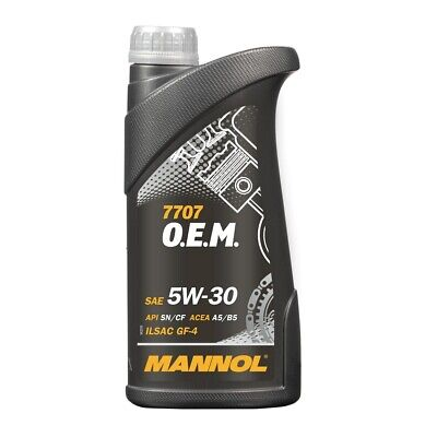1 (1x1) Liter MANNOL SAE 5W-30 7707 O.E.M. für ACEA A5/B5 / FORD WSS-M2C913-C