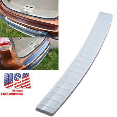 - 1x Rear Bumper Protector Tailgate Sill Plate Cover For Nissan Rogue 2014-2017