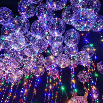 20inch Luminous LED Balloon Transparent Round Bubble Party Wedding Decor ](Round Balloon)