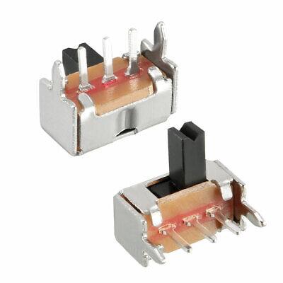 50pcs 3mm Horizontal Slide Switch Spdt 1p2t 3 Terminals Pcb Panel Latching