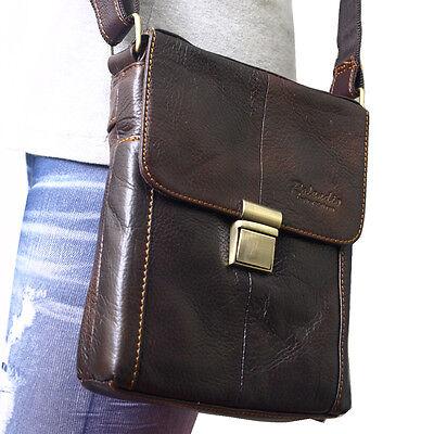 Vintage Style Genuine Leather Messenger Shoulder Mini Bag Cross Body Purse-6822