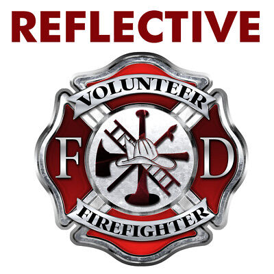 Volunteer Firefighter Decal (REFLECTIVE Firefighter
