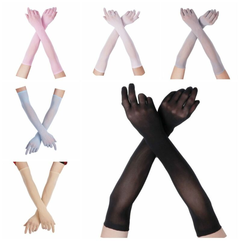 Opera Gloves Evening Clubwear Long Elbow Mittens Rubber PU Leather Costume