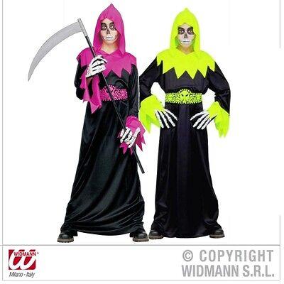 Skull Fighter Sensenmann Kinder Kostüm 128 140 158 für Fasching (Kind Sensenmann Kostüme)