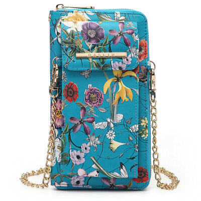 New All-In-One Women Faux Leather Crossbody Bag Wallet Wristlet Pouch Phone Case ()