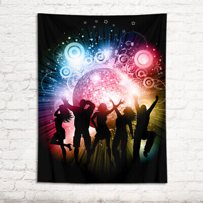 Ceiling Mounted Disco Ball (Disco Ball Lighting Dancer Shadow Tapestry Wall Hanging Living Room Bedroom)