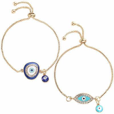 Women's Fashion Jewelry Designer Gold Evil Eye Bracelet Charm Turkish CZ Girls Designer Evil Eye