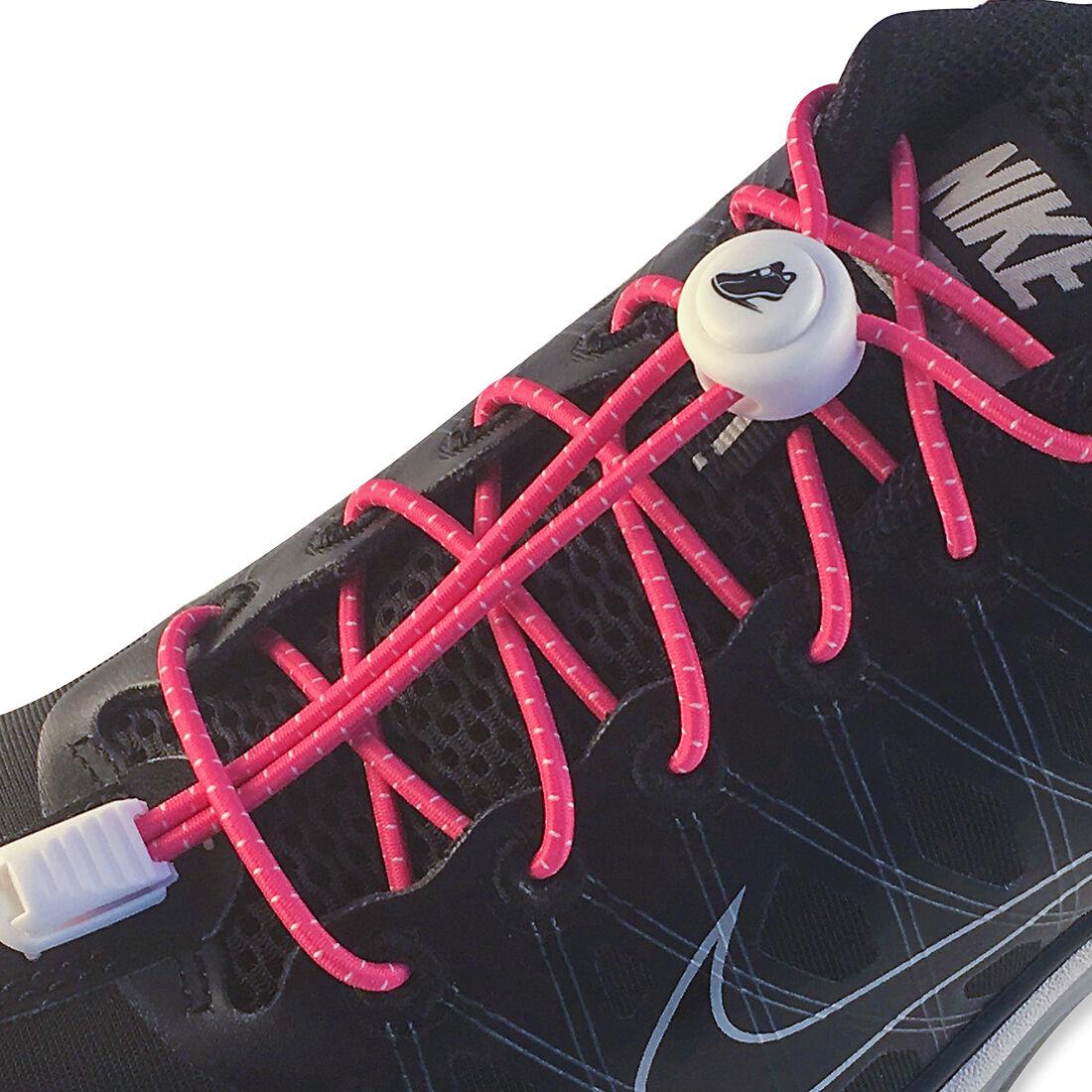 Elastic Unisex Shoe Lace No Tie Locking Sneaker Athletic Running Shoelaces