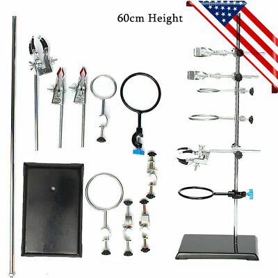 600mm Iron Laboratory Stands Chemistry Support  Lab Clamp Flask Condenser Clamp for sale  USA