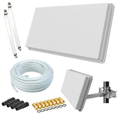 Selfsat Flachantenne H30D2+ Digital Sat Anlage 20m Kabel Fensterhalterung HD 4K